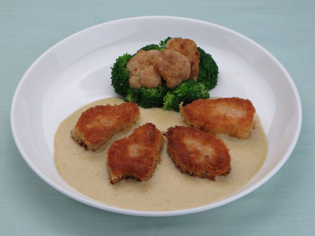 Porc pane sauce Soubise(ボイルポークのパン粉付け)
