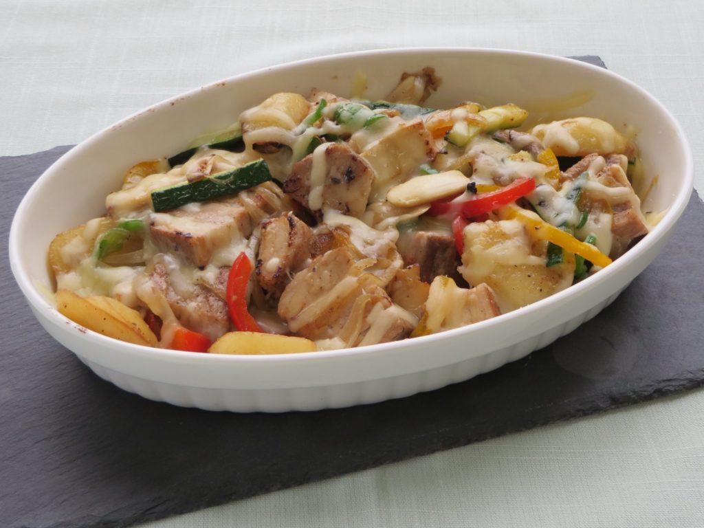 Gratin de Porc d'arôma aux légumes(ハーブポークと野菜のグラタン)